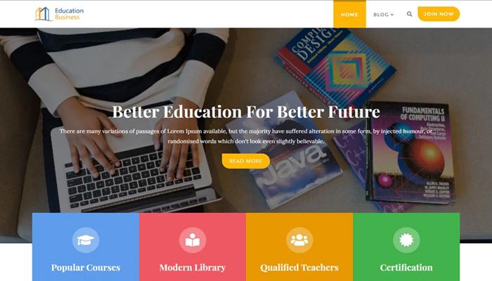 Giao diện website kinh doanh giáo dục - Education Business