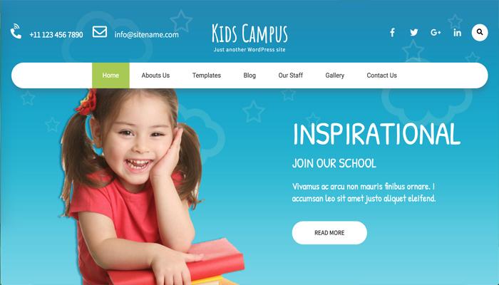 Theme WordPress giáo dục mầm non - Kids Campus